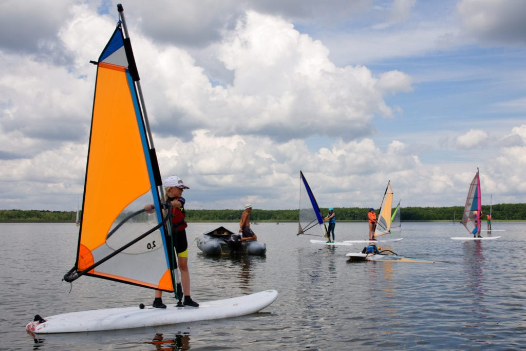 Obóz windsurfingowy na Mazurach 2020