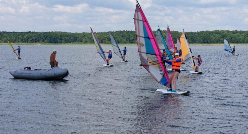 windsurfing Mazury 11-18 lat - szkolenie praktyczne