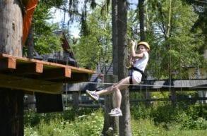 w parku linowym Zakopane