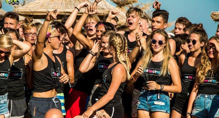 Impreza na plaży - obóz młodzieżowy Bułgaria słoneczny Brzeg 2019