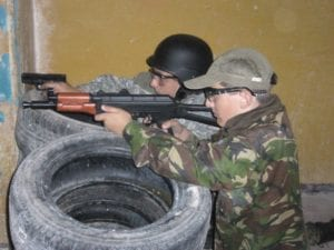 obóz militarny - strzelectwo