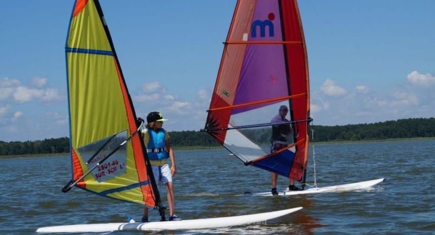 Obóz windsurfingowy - jezioro Roś