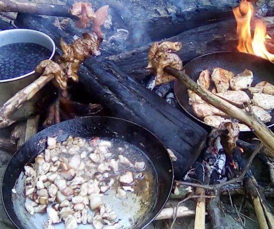obóz-survivalowy - ognisko